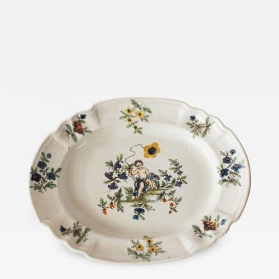 Le Nove A Le Nove Faience Smalll Platter