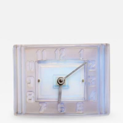 Le on Hatot Le on Hatot ATO Opalescent Glass Mantle Clock