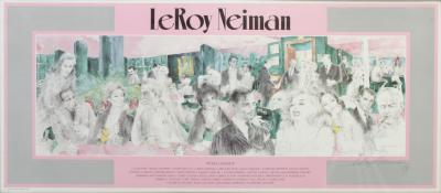 LeRoy Neiman Polo Lounge Signed Print by LeRoy Neiman