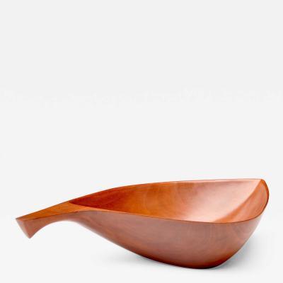 Leaf Form Mahogany Dish 1970s