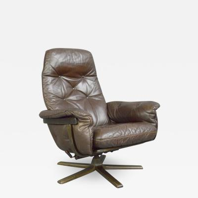 Leather Lounge Chair By G Mobel Circa 1960s