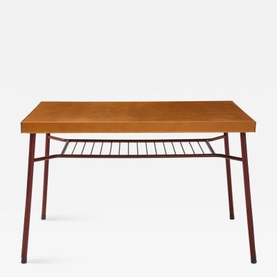 Leather Wrapped Iron Desk