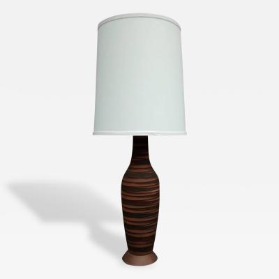 Lee Rosen Mid Century Modern Lee Rosen for Design Technics Raw Clay Body Table Lamp