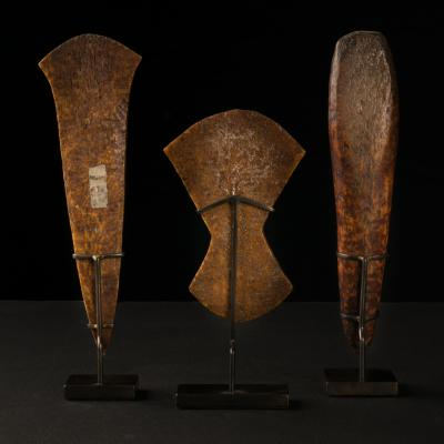 Lega People DRC Three rare Ivory Ceremonial Hammers
