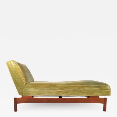 Lehigh Furniture Company Important Gerald Luss for Lehigh Chaise Lounge Chair in Walnut circa 1950
