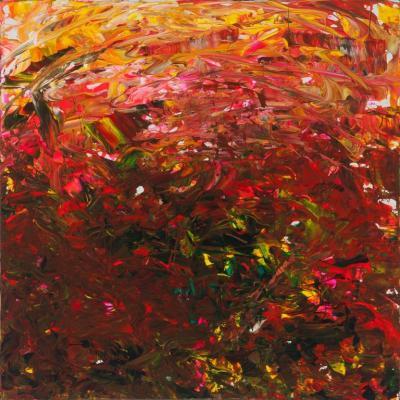 Leila Pinto Leila Pinto Exuberance Vs Uncertainty Acrylic On Canvas
