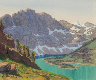 Leland S Curtis Hidden Lake Glacier National Park