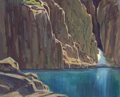 Leland S Curtis Rockbound Pool Near Woods Lake