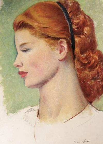 Leon Abraham Kroll Portrait of a Redhead in Profile