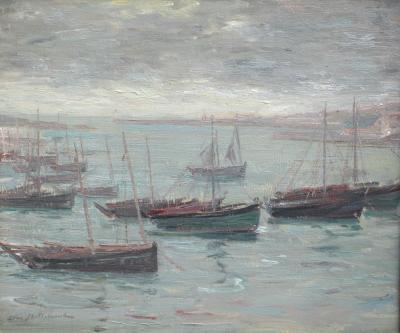 Leon BELLEMONT Sardiniers au Mouillage