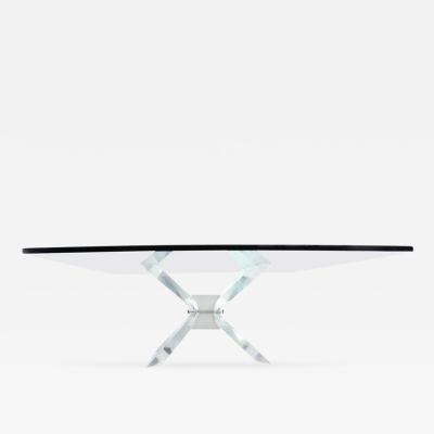 Leon Frost Lucite and Glass Coffee Table