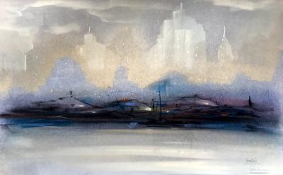 Leon Louis Dolice New York City Skyline