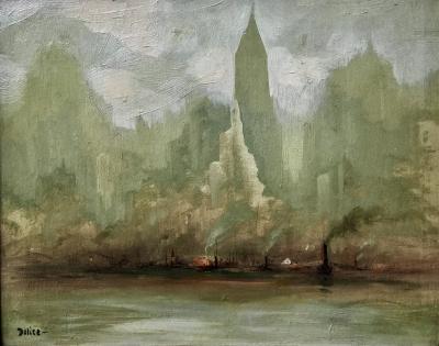 Leon Louis Dolice View of Manhattan