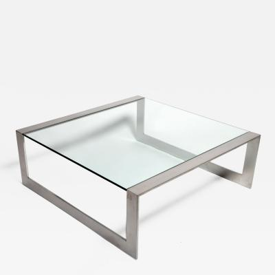 Leon Rosen Glass Coffee Table