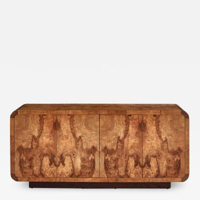 Leon Rosen Leon Rosen Pace Collection Burl Wood Credenza 1970