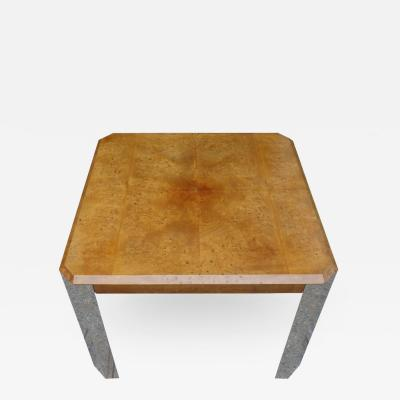 Leon Rosen Midcentury Leon Rosen for Pace Collection Burl Wood Table
