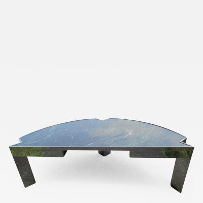Leon Rosen Sculptural 1970s Leon Rosen for Pace Collection Steel and Marble Desk