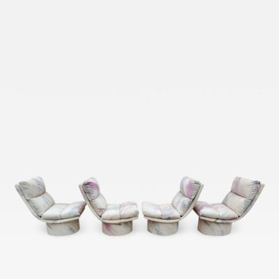 Leon Rosen Set of Four Leon Rosen Pace High Base Swivel Chairs