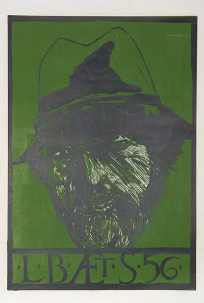 Leonard Baskin Self Portrait L Baets