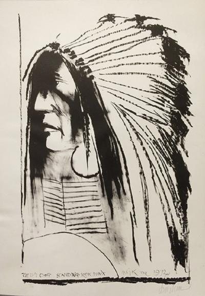 Leonard Baskin Swift Dog Standing Rock Sioux