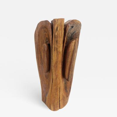 Leonard Setziol Black Walnut Totem Freestanding Sculpture by Leonard Setziol