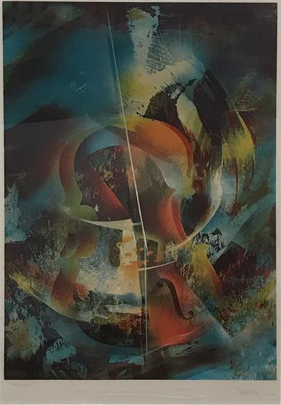 Leonardo M Nierman Abstract Wall Art Leonardo Nierman Lithograph 1 Signed 154 200