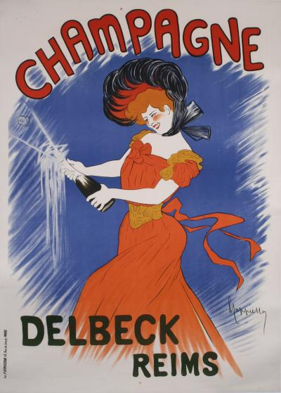 Leonetto Cappiello Early 20th C French Champagne Poster by Leonetto Cappiello c 1902