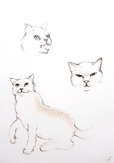Leonor Fini Leonor Fini Cats Original Etching 1985