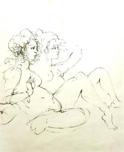 Leonor Fini Leonor Fini Surrealist Portraits Handsigned Original Lithograph 1970s