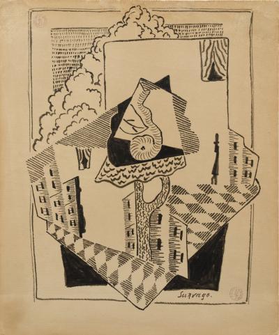 Leopold Survage Cubist Composition