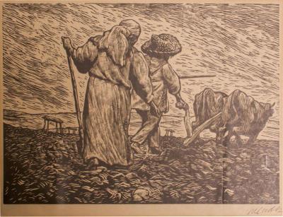 Leopoldo M ndez Print Revolutionary Art Mexico Farmers
