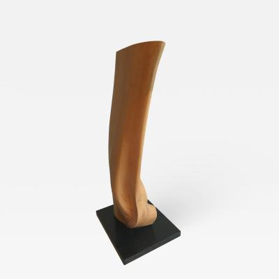 Les Kleinberg Abstract Wooden Sculpture by Les Kleinberg