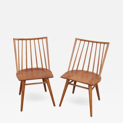 Leslie Diamond Pair of Modernmates Birch Side Chairs by Leslie Diamond for Conant Ball
