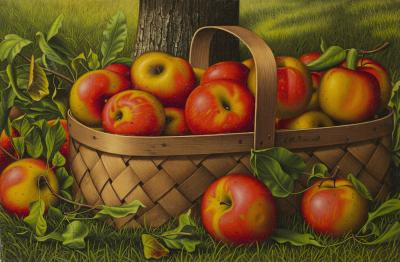 Levi Wells Prentice Apples in a Basket