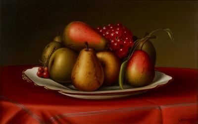 Levi Wells Prentice Still Life with Pears and Grapes
