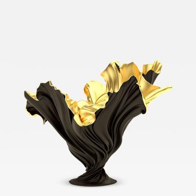 Levitaz Vase Gold Black