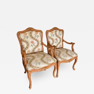 Lewis Mittman Lewis Mittman French Louis XV Style Arm Chairs a Pair