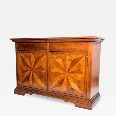 Lewis Mittman Lewis Mittman New York Custom Made Inlaid Walnut Sideboard Cabinet