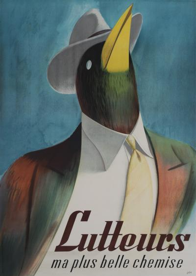 Libiszewski Vintage Swiss Mens Fashion Poster by Libis Circa 1950