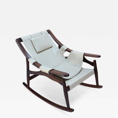 Liceu de Arte 1960s Liceu de Arte Brazilian Jacaranda Rocking Chair