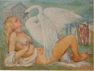 Lida and the Swan