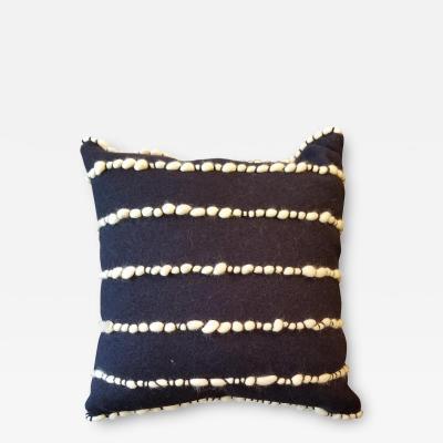 Lido II Navy Blue Merino Wool Pillow