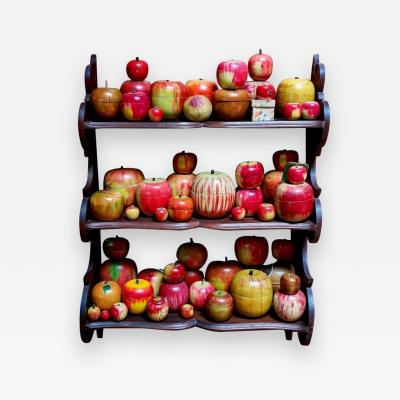 Lifetime Collection Of Folk Art Hand Painted Apples