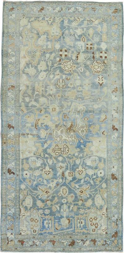 Light Blue Persian Malayer Short Runner rug no j1498