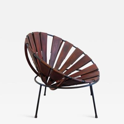 Lina Bo Bardi Bowl Chair in Leather from the 1950s