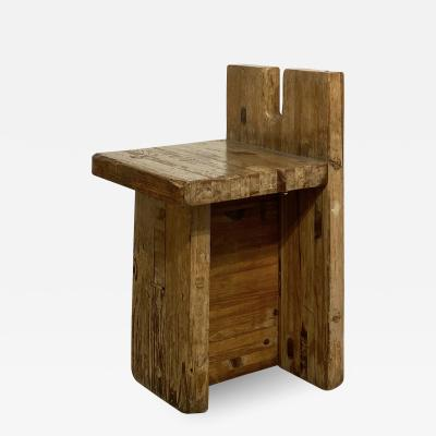Lina Bo Bardi Brutalist Lina Bo Bardi Stool designed for Sesc Pompeia Brazil 1980 Pine wood