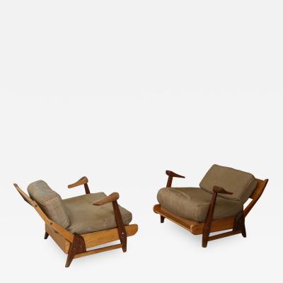 Lina Bo Bardi Pair of Brazilian armchairs from 1950 Lina Bo Bardi