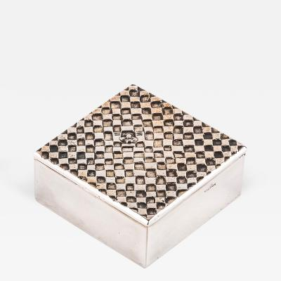 Line Vautrin Alone in the World Seul au Monde French 50 Line Vautrin Silvered Bronze Box