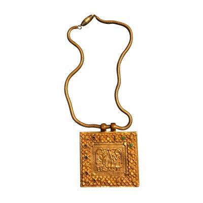 Line Vautrin An Early Gilt Bronze Necklace by Line Vautrin