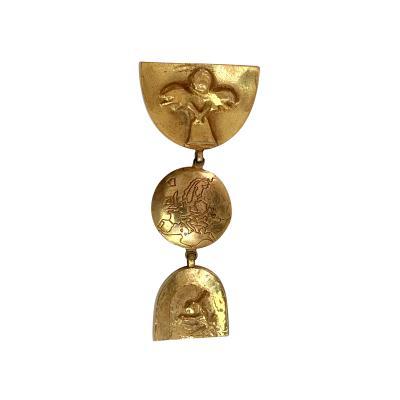 Line Vautrin Articulate Bronze Brooch Pergatoire by Line Vautrin